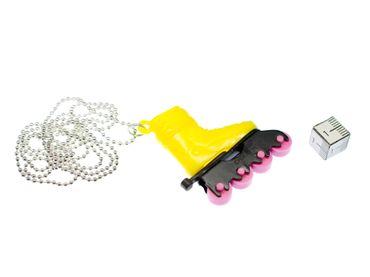 Rollerblades Rollschuhe Inlineskates Kette Halskette Miniblings Skates 80cm gelb – Bild 2