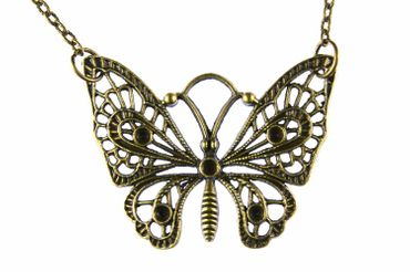Butterfly Necklace Miniblings 80cm Butterfly Necklace Butterfly Brz – Bild 4