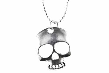 Skull Necklace Miniblings 80cm Halloween Skull – Bild 2