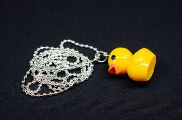 Rubber Duck Necklace Miniblings 80cm Rubber Duck Bathtub 30mm – Bild 1