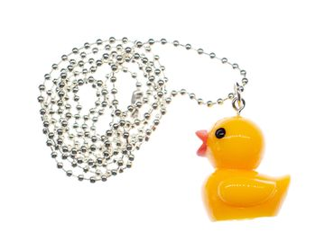 Rubber Duck Necklace Miniblings 80cm Rubber Duck Bathtub 30mm – Bild 1