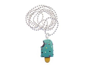 Popsicle Necklace Miniblings Posicle Ice Cream Cawaii Turquoise – Bild 1