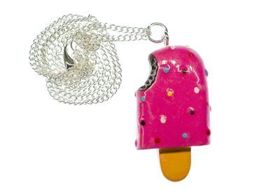 Eis am Stiel Kette Halskette Miniblings Stieleis Eiscreme Kawaii Schleckeis pink – Bild 2