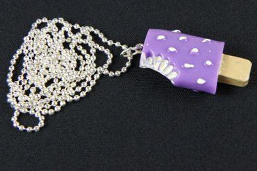 Popsicle Necklace Miniblings Popsicle Ice Cream Cawaii Purple – Bild 3