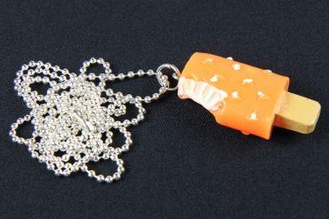 Popsicle Necklace Miniblings Popsicle Ice Cream Cawaii Orange – Bild 3