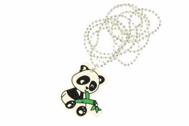 Panda Bear Necklace Miniblings China Asia Animal Bamboo Wood 80cm – Bild 1