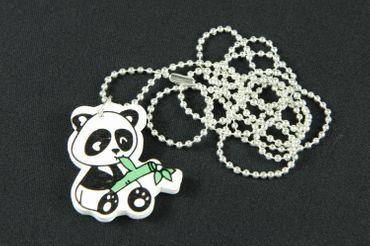 Panda Bear Necklace Miniblings China Asia Animal Bamboo Wood 80cm – Bild 2