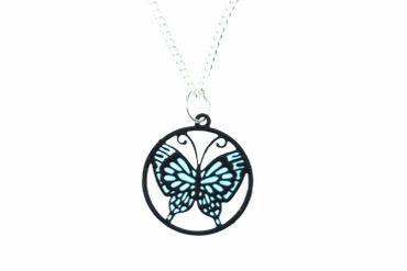 Schmetterling Halskette Kette Miniblings Suncatcher Fensterbild Miniatur 45cm