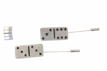 Domino Tie Clips Miniblings Pin Domino Game Games Silver – Bild 4