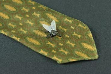 Fliege Krawattennadel Miniblings Anstecknadel Pin Anstecker Schmeißfliege – Bild 3