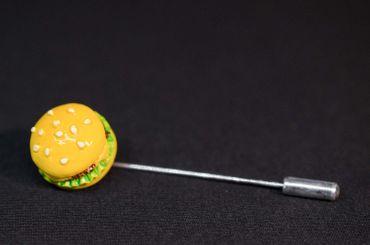 Hamburger Tie Clip Miniblings Pin Food Streetfood Fastfood Burger – Bild 2