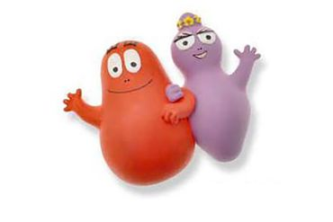 Barbapapa Barbapapas Magnet Fridge Magnets Child Children Purple Red Waving