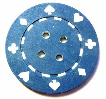 4X Chip Poker Chips Poker Chips Buttons Miniblings Button Carnival 4cm Blue – Bild 2