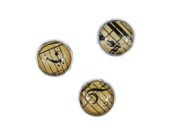 3X Music Notes Buttons Miniblings Button Treble Clef Beethoven Cabochon – Bild 4