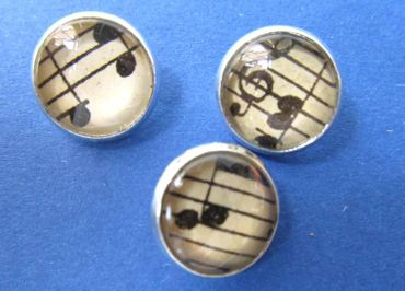 3X Music Notes Buttons Miniblings Button Treble Clef Beethoven Cabochon – Bild 6