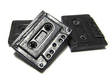 6x Kassetten Knöpfe Miniblings Knopf Tape Musiker Musik Mixtape Handarbeit – Bild 3