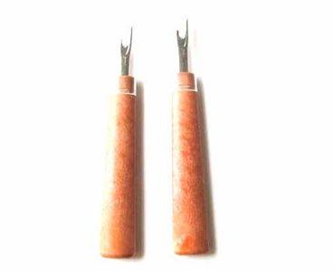 2X Seam Ripper Thread Miniblings Sewing Handicrafts Haberdashery Brown – Bild 1