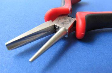 Concave Convex Nose Pliers Round Pliers Jewelry Pliers Bending Pliers Miniblings 12cm R / Black – Bild 1