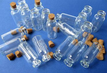 20X Mini Bottles With Corks Storage Jar Glass Bottles Miniblings Mini 40mm Doll House Dolls House – Bild 2