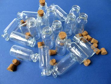 20X Mini Bottles With Corks Storage Jar Glass Bottles Miniblings Mini 40mm Doll House Dolls House – Bild 5