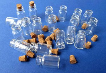 20X Mini Bottles With Corks Storage Jar Glass Bottles Miniblings Mini 25mm Doll House  Dollshouse – Bild 2