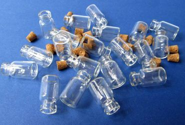 20X Mini Bottles With Corks Storage Jar Glass Bottles Miniblings Mini 25mm Doll House  Dollshouse – Bild 3