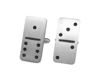Domino Cuff Links Cufflinks Miniblings Buttons + Box Game Dominoes – Bild 1