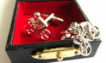 Bicycle Cuff Links Cufflinks Miniblings Buttons + Box Bike Cyclists Bike Cycling – Bild 4