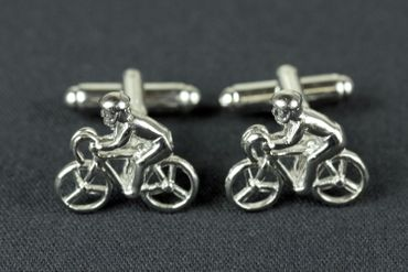 Bicycle Cuff Links Cufflinks Miniblings Buttons + Box Bike Cyclists Bike Cycling – Bild 1