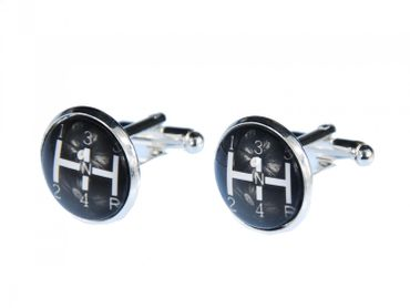 Gearshift Cuff Links Cufflinks Miniblings Buttons + Box Shift Car Gears Race Racing Oltimer – Bild 1