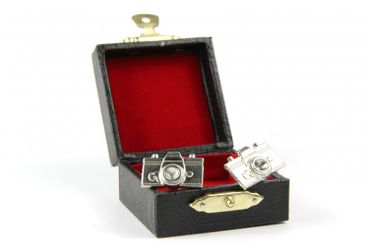 Camera Cuff Links Cufflinks Miniblings Buttons With Box Camera Photo Author Photographer – Bild 4