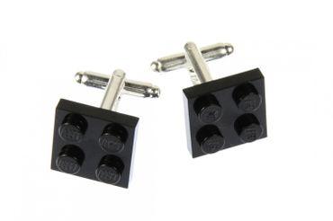 Lego Manschettenknöpfe Miniblings Knöpfe + Box quadratisch Legostein Legosteine