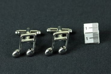 Notes Music Cuff Links Cufflinks Miniblings Buttons + Box Semiquaver Sixteenth 16Th Note Semiquaver – Bild 4