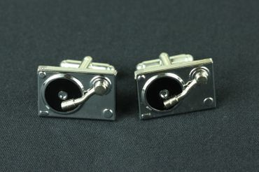 Turntable Cuff Links Cufflinks Miniblings Buttons With Box Turntables Dj Music Record Player Records – Bild 4