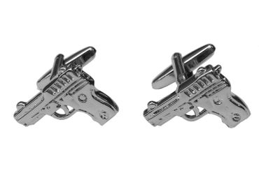 Revolver Manschettenknöpfe Miniblings Knöpfe Colt mit Box Pistole Cowboy Western – Bild 1