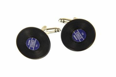 Record Records Cuff Links Cufflinks Miniblings + Box Vinyl Lp Dj Music Blue – Bild 1
