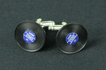 Record Records Cuff Links Cufflinks Miniblings + Box Vinyl Lp Dj Music Blue – Bild 3