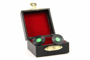Record Records Cuff Links Cufflinks Miniblings + Box Vinyl Lp Dj Music Green – Bild 2