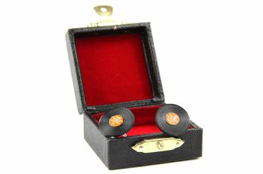 Record Records Cuff Links Cufflinks Miniblings + Box Vinyl Lp Dj Music Red – Bild 2