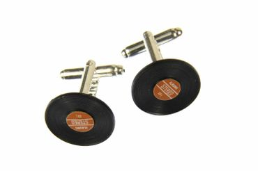 Record Records Cuff Links Cufflinks Miniblings + Box Vinyl Lp Dj Music Red – Bild 1