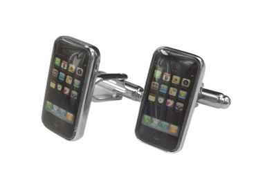 Smartphone Cuff Links Cufflinks Miniblings Buttons + Box Cell Phone Mobile – Bild 1