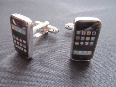 Smartphone Cuff Links Cufflinks Miniblings Buttons + Box Cell Phone Mobile – Bild 5