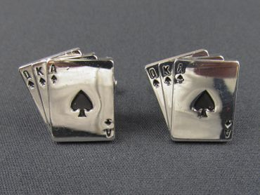Playing Cards Cuff Links Cufflinks Miniblings Buttons With Box Card Poker Skat – Bild 2