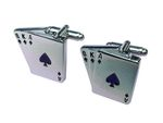 Playing Cards Cuff Links Cufflinks Miniblings Buttons With Box Card Poker Skat