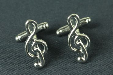 Treble Clef Cuff Links Cufflinks Miniblings Buttons + Box Music Musician – Bild 2