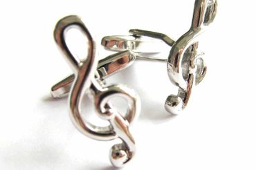 Treble Clef Cuff Links Cufflinks Miniblings Buttons + Box Music Musician – Bild 5