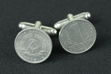 1 Pfennig German Germany GDR East Germany DDR Cuff Links Cufflinks Miniblings Nostalgia Coin Dime East Germany – Bild 3