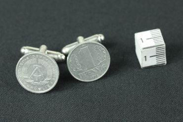 1 Pfennig German Germany GDR East Germany DDR Cuff Links Cufflinks Miniblings Nostalgia Coin Dime East Germany – Bild 4