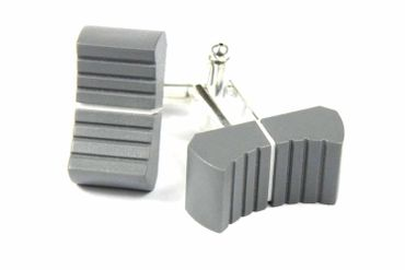 Fader Cuff Links Cufflinks Miniblings Controllers Dj Mixer Mixer Sound Engineer Switch Gray – Bild 1