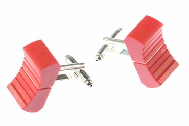 Fader Cuff Links Cufflinks Miniblings Controllers Dj Mixer Mixer Sound Engineer Switch Red  – Bild 1
